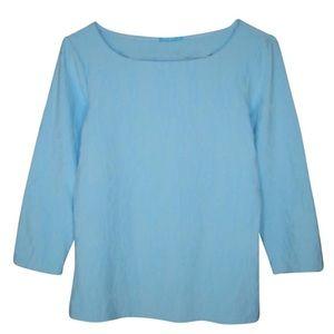 J.McLaughlin Sky Blue Catalina Cloth Chain Print M